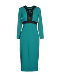 Roberto Cavalli Knee Length Dresses Emerald Green