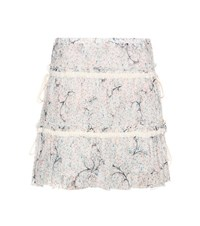 See By Chloe Printed Cotton And Silk Skirt White