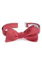 Men's John W. Nordstrom Dot Silk Bow Tie Red