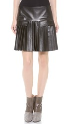 Les Chiffoniers Pleated Pocket Flap Skirt Black