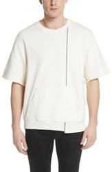 3.1 Phillip Lim Reconstructed Short Sleeve Sweatshirt Ecru
