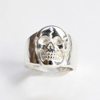 Nighthawk Jewelry Hard Knocks Mega Skull Ring Sterling Silver
