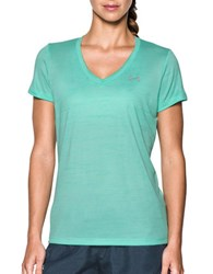 Under Armour Solid V Neck Tee Crystal