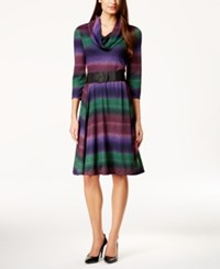 Styleandco. Style And Co. Ombre Print Sweater Dress Only At Macy's Purple Grn