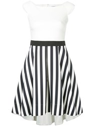 Guild Prime Contrast Striped Panel Dress White