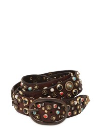 Campomaggi 40Mm Multi Studded Leather Belt