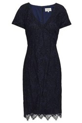 Mikael Aghal Woman Lace Dress Navy
