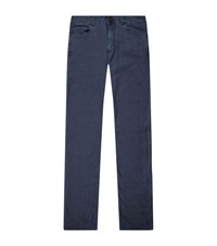 Canali Lightweight Stretch Jeans Male Blue