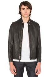 Schott Vintaged Cafe Moto Jacket Black
