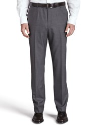 Isaia Flat Front Trousers Gray