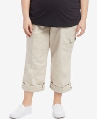 Motherhood Maternity Plus Size Convertible Cargo Pants Oat