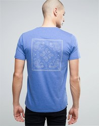 Brave Soul Indian Back Print T Shirt Blue