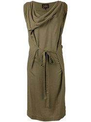 Vivienne Westwood Anglomania Ruffled Neck Mid Length Dress Green
