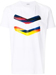 Dirk Bikkembergs Colour Block Print T Shirt White
