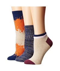 Richer Poorer Mixed Assorted 3 Pack Orange Navy Oatmeal Women's Crew Cut Socks Shoes Multi