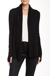 Kier And J Waterfall Cashmere Cardi Black
