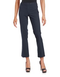 Calvin Klein Petite Straight Slim Dress Pants Navy