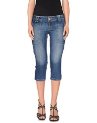Pinko Denim Denim Capris Women Blue
