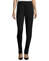 Caroline Rose Ponte Slim Pants Black Women's