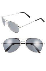 Men's Randolph Engineering 'Amelia' 57Mm Polarized Aviator Sunglasses Polished Rhodium Gray Pc