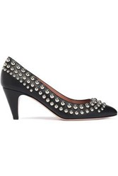 Red Valentino Studded Leather Pumps Black