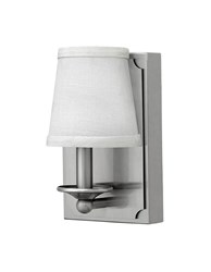 Hinkley Avenue Conical Sconce 61222Bn Brushed Nickel White
