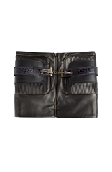 Anthony Vaccarello Leather Skirt