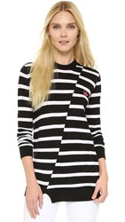 Mcq By Alexander Mcqueen Distort Stripe Pullover Black White Stripe