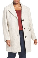 Gallery Plus Size Women's Tweed Coat