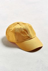 Urban Outfitters Uo Curved Brim Baseball Hat Mustard