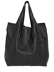 Givenchy George V Smooth Leather Hobo Bag Black