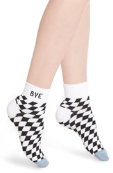 Richer Poorer Drive Ankle Socks White Blue