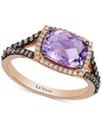 Le Vian Chocolatier Amethyst 1 3 4 Ct. T.W. And Diamond 3 8 Ct. T.W. Ring In 14K Rose Gold