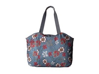 Haiku Everyday Tote River Floral Print Tote Handbags Blue