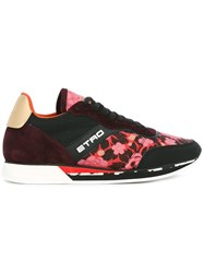 Etro Floral Embroidered Sneakers Black