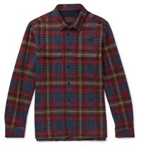 Altea Checked Woven Overshirt Red