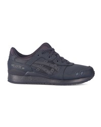 Asics Navy Gel Lyte Iii Leather Mono Sneakers Blue