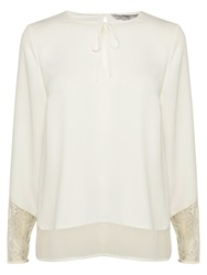 Coast Dana Lace Trim Top Ivory