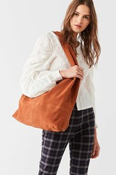 Urban Outfitters Slouchy Suede Tote Bag Brown