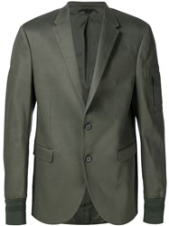 Neil Barrett Casual Stylised Blazer Green