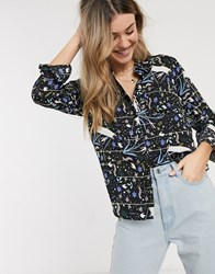 Jdy Shirt In Abstract Floral Print Multi