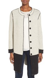 Nic Zoe Women's 'Bold Block' Reversible Colorblock Knit Coat
