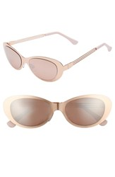 Leith 53Mm Oval Sunglasses Rose Gold