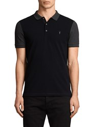Allsaints Wentworth Polo Top Ink Navy Charcoal
