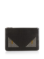 Fendi Bag Bugs Studded Leather Pouch