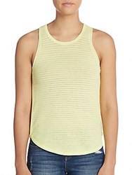 J Brand Candice Pointelle Tank Top Lime