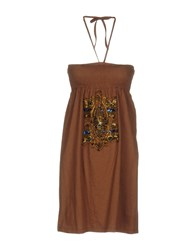 Fairly Short Dresses Brown