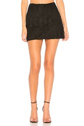 Bailey 44 Conspiracy Crochet Suede Skirt Black