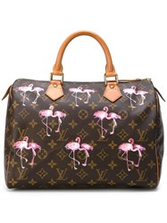 Louis Vuitton Vintage 'Speedy 30' Tote Brown