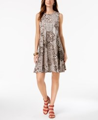 Styleandco. Style Co Petite Printed Swing Dress Vintage Instinct